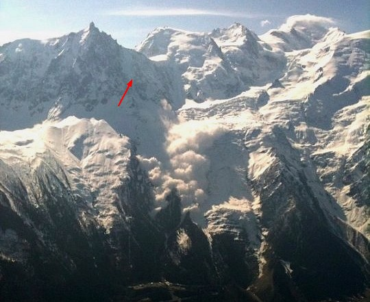 Avalanche au Glacier rond Avalanche