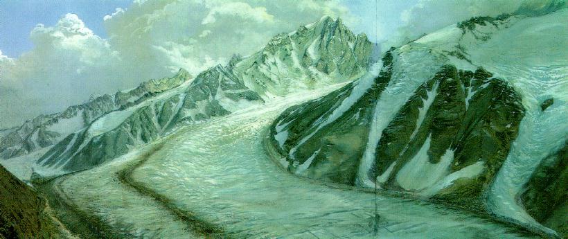 Les dernières glaciations et  âges glaciaires. -20000