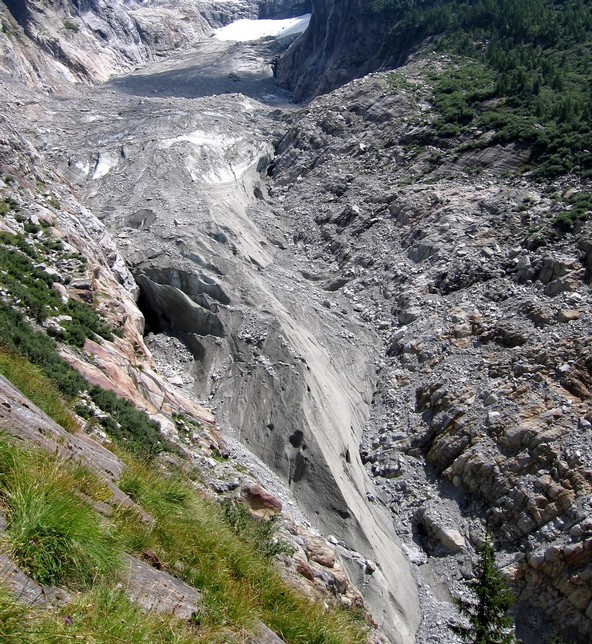 Le glacier d'Argentière A