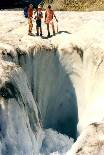 Ecole de glace sur la Mer de glace. 02_moulins