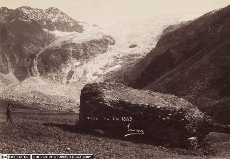Le glacier du Tour. TETHBIB.Bildarchiv_Hs_1458-GK-BF08-1889-01_7859